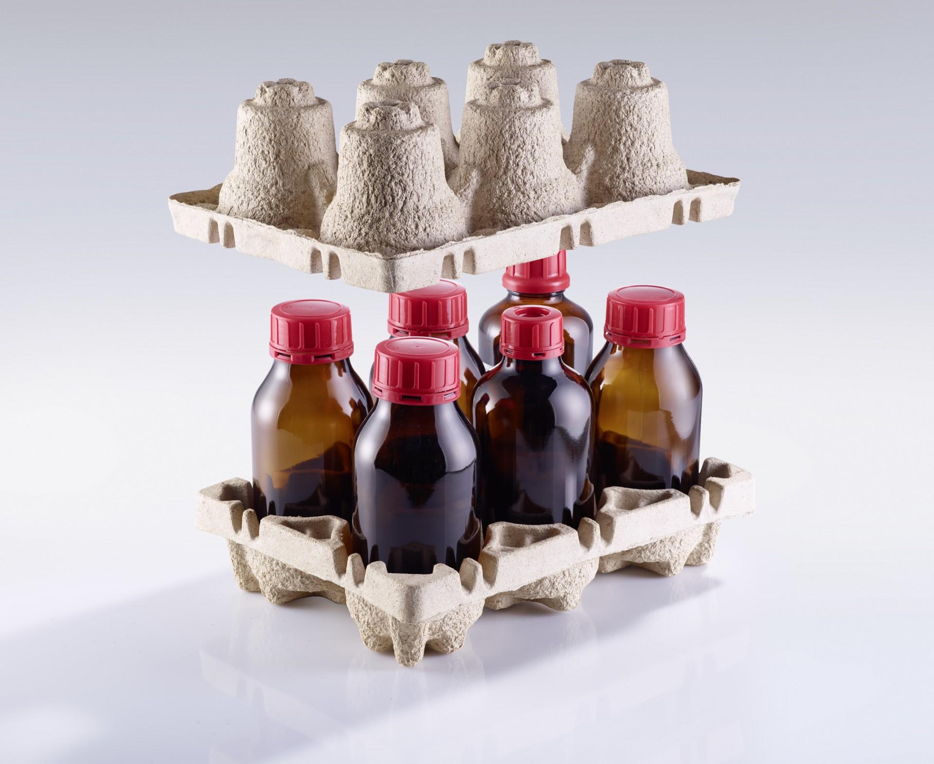 GlassPac +liqui  Eine Schutzverpackung, entwickelt für den Transport von Glasflaschen.
