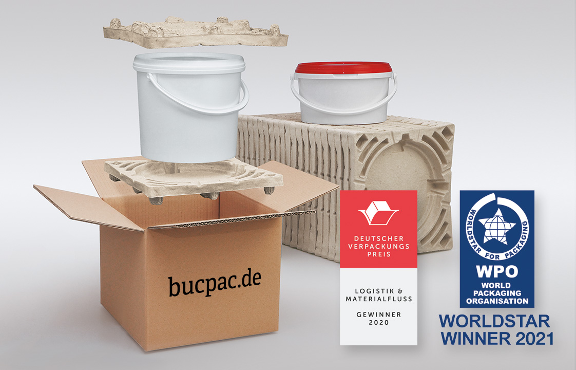 Nachhaltiges Transport-Schutzpolster BucPac gewinnt WorldStar Award