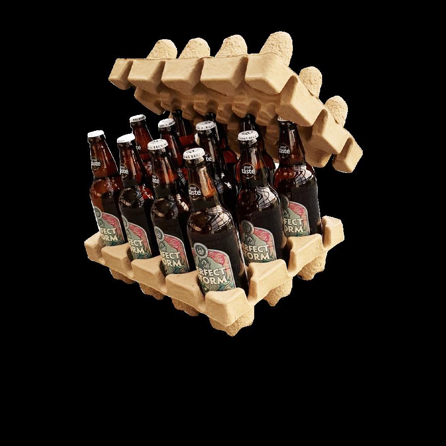 Pulp-Tec Faserguss Verpackung Bierflaschen