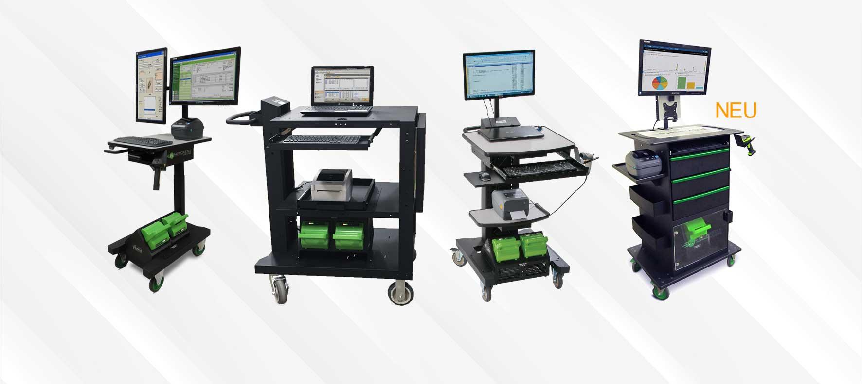 Mobile Arbeitsplätze mit dem PowerSwap Nucleus® Lithium Power System.