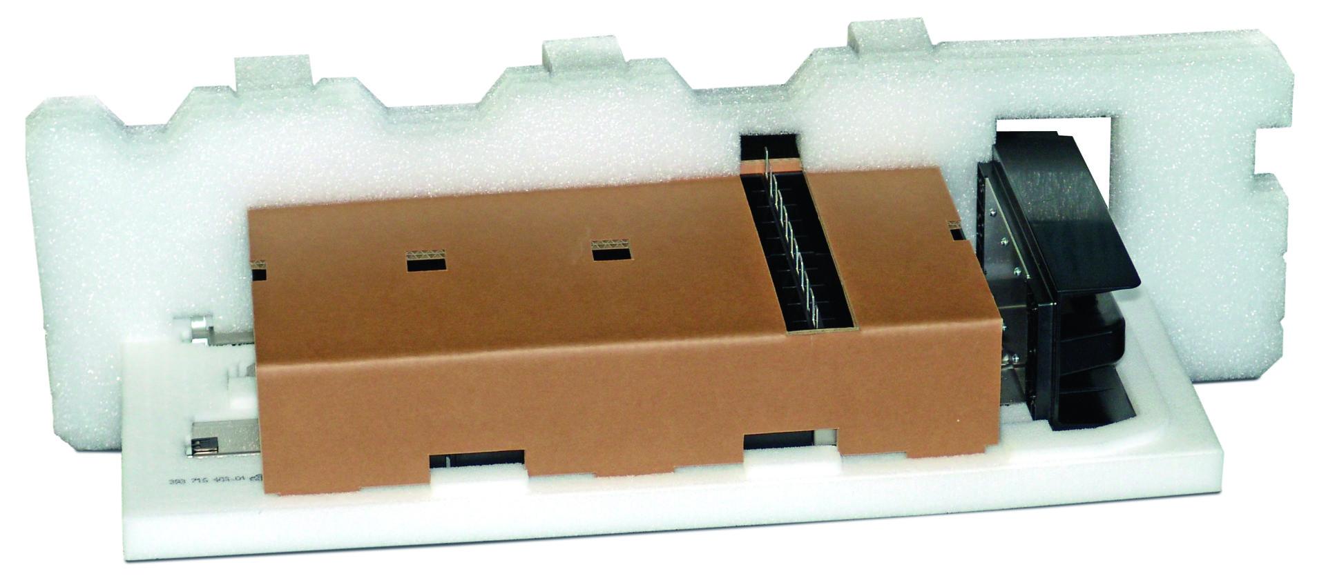 Konstruktive Verpackungslösung aus PE Schaum und Wellpappe