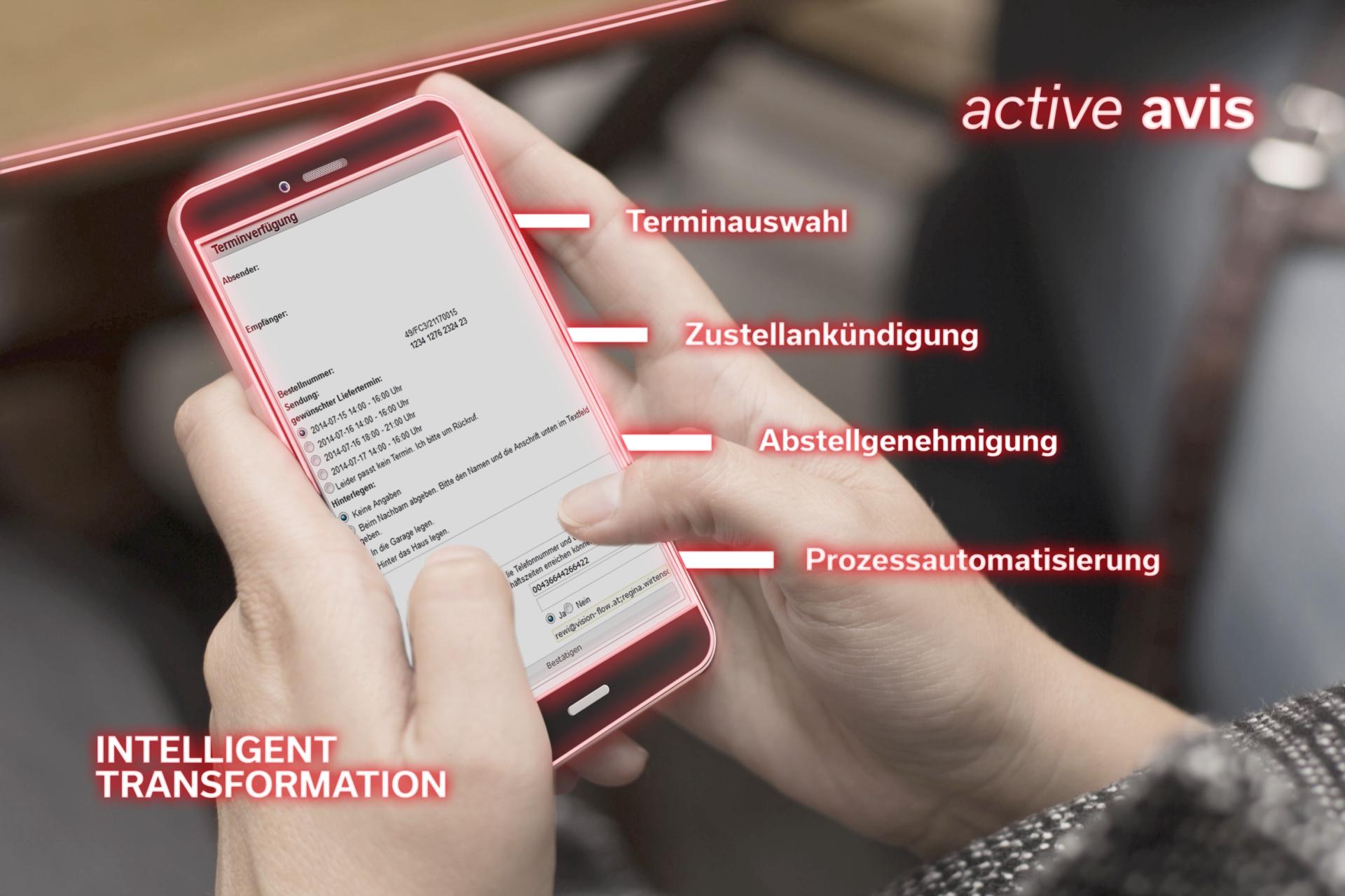 Unser Service active avis ist eine webbasierte Avisierungsplattform und dient der Endkundenavisierung (B2B und B2C).